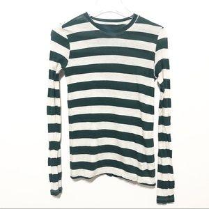Proenza Schouler Striped Long Sleeve Fitted Shirt
